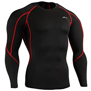 emFraa Mens Womens Skin Tight Thermal Base layer Compression Winter Black Shirt S