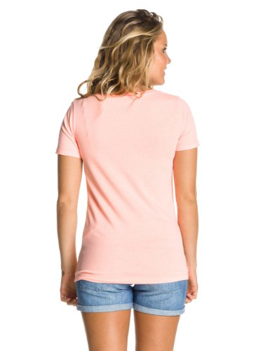 Roxy Good Looking Flag D Screenline T-Shirt Femme Peach Orange - Orange (Peach Orange)