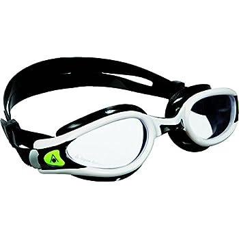 14e56f870 Aqua Sphere Unisex Adult Kaiman Exo Men's and Women's Swim Goggles,  White/Black, Regular