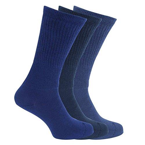 3x Pairs of Mens Extra Wide Comfort Fit 'Wide Feet' Diabetic Socks / UK 6-11 Eur 39-45