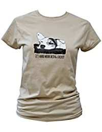 Red Dog Wear Womens 'Cheeky' Jack Russell Fitted T.Shirt
