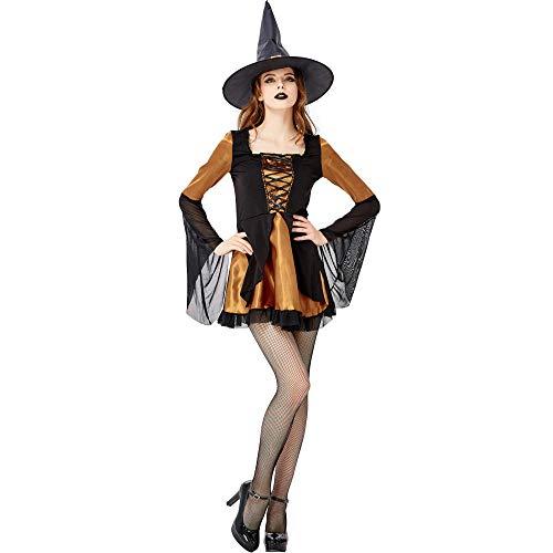 JRKJ Halloween Hexe Vampir Dark Angel Masquerade Elf Lady Kostüm @ M (Dark Elf Kostüm)