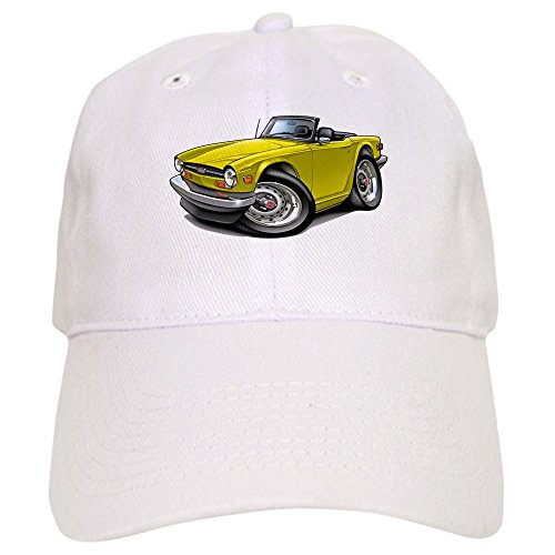 CafePress Triumph TR6 Yellow Car - Baseball Cap With Adjustable Closure, Unique Printed Baseball Hat