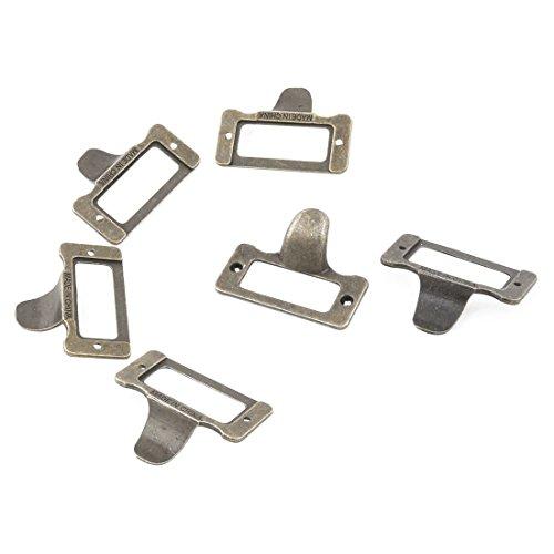 us Metallrahmen Regale Schublade bei Schild Etikett Karte Inhaber Bronze Ton (Name Karteninhaber)