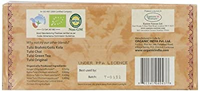 Organic Tulsi Ginger Teabags 25 from ORGANIC INDIA