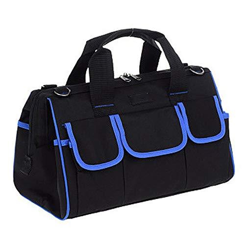 PUgarden Heavy Duty-Werkzeugkoffer, Werkzeuge Speicherbeutel-Organisator for Hand/Power Tools Zip-Top & Verschleißfeste Gummiunterseite zusammenklappbar Tote (Farbe : Blau, Größe : 20inch) -