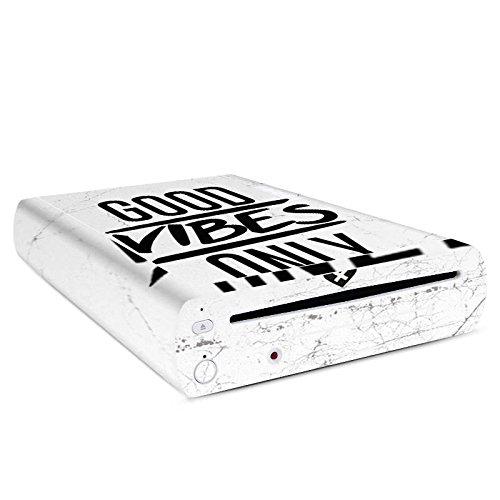 DeinDesign Nintendo Wii U Konsole Case Skin Sticker aus Vinyl-Folie Aufkleber Leben Vibes Spruch