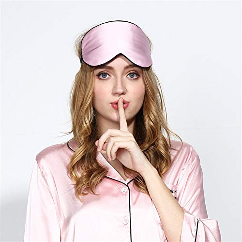 Máscara de ojos de seda 100% para hombres y mujeres, ultra suave, transpirable, antifaz para dormir