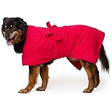 Toby y Alexander - Albornoz de secado rápido para perro, muy absorbente