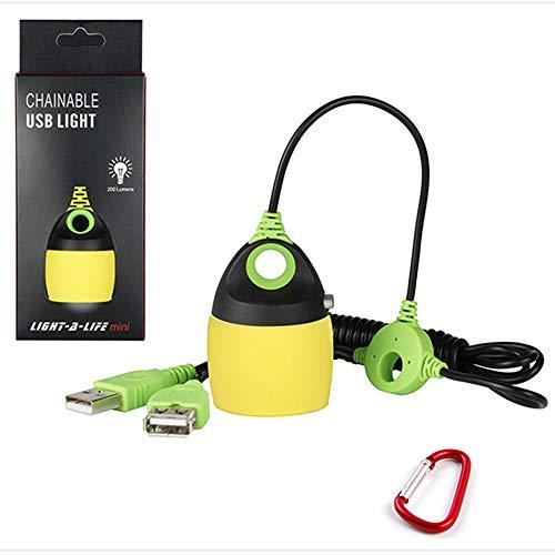 ZSH Tragbare Mini Zelt licht USB Lade Serie Outdoor nachtlicht Camping Zelt kleine kronleuchter Outdoor notlicht,Yellow