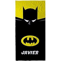 Lolapix Toalla Batman Personalizada con Nombre | Toalla Infantil niño o niña | Regalo Original | Varios Diseños y Tamaños | Batman