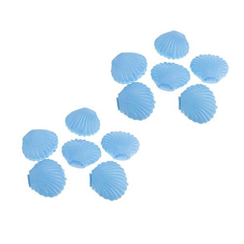 Homyl 12 x Muschel Form Süßigkeiten Schachtel Gastgeschenk Geschenkbox Set, Tischdeko für Geburtstag Party Hochzeit Garten Party - Blau, 10 x 8 x 4 cm