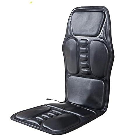 AMYMGLL Auto-Massagegeräte Multifunktions-Elektro-Auto-Massageauflage Leder Heizkissen faltbar Müdigkeit zu beseitigen Schmerzen schwarz Größe 122 * 52 ** cm zu entlasten
