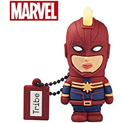 Chiavetta USB 32 GB Captain Marvel - Memoria Flash Drive 2.0 Originale Marvel Avengers, Tribe FD016707
