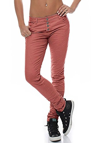Urban Surface Damen Time Chino Hose LUS-073/104/110 Boyfriend-Style dusty rose XL