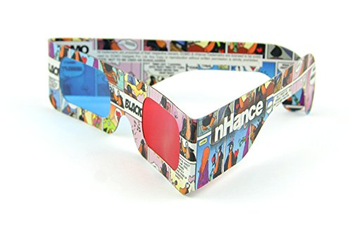 DOMO nHance RB2B Anaglyph Passive Cyan and Magenta Red and Blue Paper 3D Video Glasses (Pack of 4 pcs)  available at amazon for Rs.129
