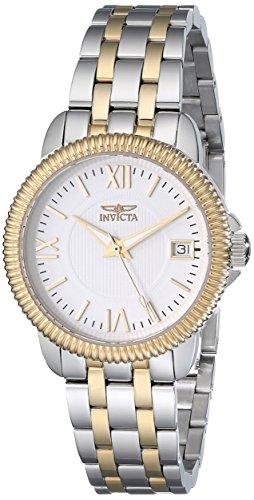 Invicta Women's 32mm Two Tone Steel Bracelet & Case Swiss Quartz White Dial Analog Watch 18070
