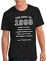 "Mens ""The Best of 1998"" 20th Birthday T Shirt Gift, 100% Soft Cotton"