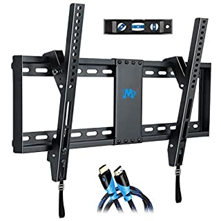 Mounting Dream Tilt TV Wall Bracket Mount for Most 37-70 Inch LED, LCD, OLED and Plasma TVs up to VESA 600x400mm and 60 kg, 9ft. HDMI Cable and Bubble Level Included, MD2268-LK-02