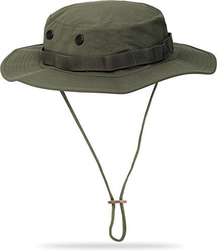 US GI Krempenhut Army Outdoor Boonie Hat aus Nylon Farbe Oliv Größe (In Kostüme Australien Billig)