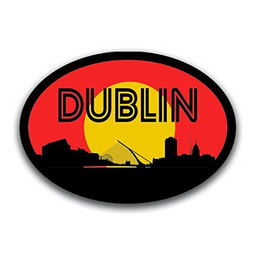 Dublin Ireland Skyline Vinyl Decal Sticker | Cars Trucks Vans SUVs Windows Walls Cups Laptops | Full Color Printed | 5.5 Inch | KCD2566 -