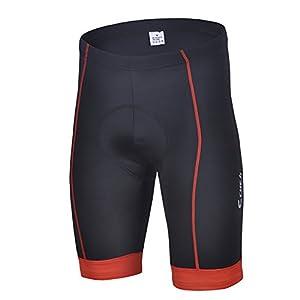 Free Fisher Hombres Maillots de Bicicleta Conjunto de Jersey de Manga Corta + Pantalones Cortos Acolchados Cómodo Respirable Secado rápido