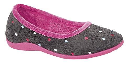 Sleepers - Sandali con Zeppa donna Grey/Pink