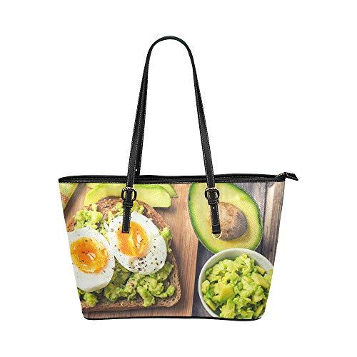 Duftende und attraktive Avocado große weiche Leder tragbare Top Griff Hand Totes Taschen kausalen Handtaschen mit Reißverschluss Schulter Einkaufstasche Geldbeutel Organizer für Lady Girls Womens