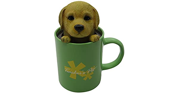 Idea Max Peek-A-Pet Bobble Heads Teachers Pet Labrador Retriever Mug