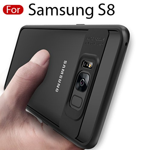 MOBISTYLE Full Protective TPU & Acrylic Transparent Back Cover Case for Galaxy Samsung S8 – BLACK