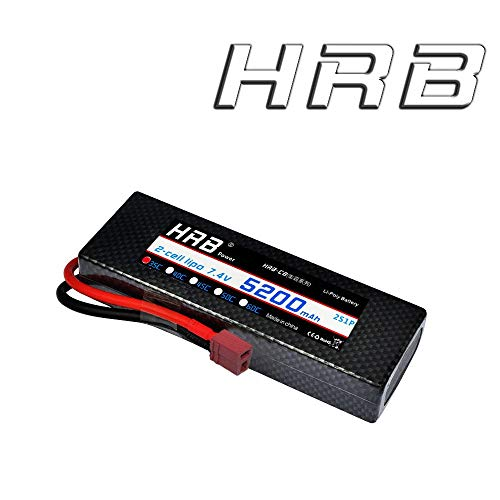 HRB 2S Lipo Batterie 7.4V 35C 5200mAh Hardcase RC Lipo Batterie con connettore Dean T Style per Veicoli RC Auto Camion Barche