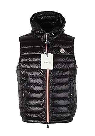 MONCLER CL Black Gien Hooded Shell Gilet Vest Size 2/M/48/38R U.S.