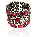 Special Fashionably Fuschia Bohemian Vintage Bangle Bracelet