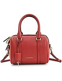 BURBERRY - Bolso estilo bolera para mujer Rojo rojo