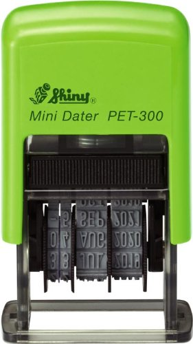 Shiny PET-300 Self-inking Date Stamp (3.8mm Character Height) Test