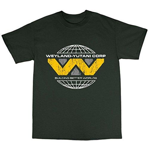 Weyland Yutini T-Shirt 100% Baumwolle Waldgrün