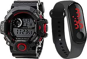 selloria Digital Men's & Women's Watch (Multicolour Dial) (Pack of 2)