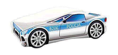 *Kinderbett Autobett Auto Junior mit Lattenrost und Matratze 140×70 160×80 180×80 ACMA (160×80, 9)*