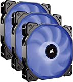 Corsair AF120, Air Series, 120mm LED Ventilateur Silencieux - Bleu (Pack Triple)