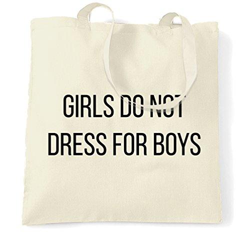 Tim And Ted Feminist Tragetasche Mädchen tun Kleid nicht für Jungen Slogan Natural One Size