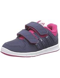 adidas LK Trainer 6 CF I - Zapatillas para niños, color negro / blanco / gris