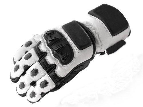 Newfacelook, guanti protettivi impermeabili da uomo, per motocicletta White L