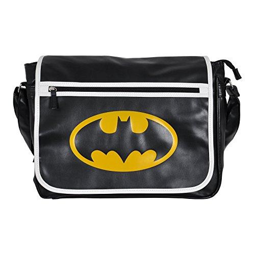 Batman Logo Tasche Messenger Bag schwarz für Comic Fans