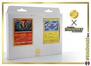 Némélios (Pyroar) 51/214 Y Lanturn 74/214 - #tooboost X Soleil & Lune 8 Tonnerre Perdu - Box de 10 Cartas Pokémon Francés + 1 Goodie Pokémon