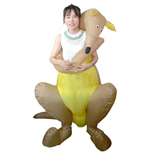 LouiseEvel215 Känguru aufblasbare Kleidung Erwachsene Walking Doll Festival Party Kostüm Leistung Requisiten Cosplay Puppe (Womens Aufblasbare Puppe Für Erwachsene Kostüm)