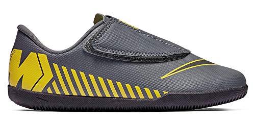 Nike Hallenschuh Kinder Fußballschuhe Klettverschluss Jr. Vapor 12 Club (IC) für Hallensport (26 EU)