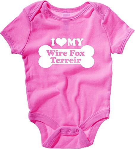 Body Neonato Rosa Raspberry FUN2055 i Love My Wire Fox terreir