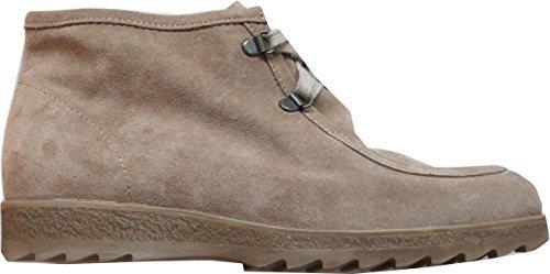 Boots bottines de rayon en cuir-couleur : sable