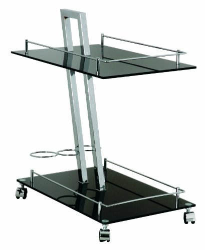 haku-mobel-carro-89553-servicio-de-trolley-chrome-negro-60-x-40-x-72-cm