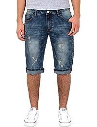 1c1d4c61cc94 by-tex Herren Jeans Shorts kurze Bermuda Shorts Used Look kurze Hose Basic  Jeans…